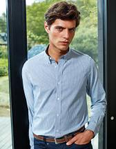 Mens Cotton Rich Oxford Stripes Shirt